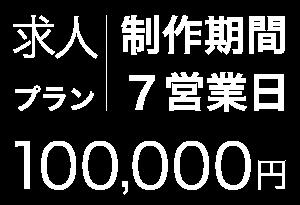 求人、制作期間:7営業日、100,000円