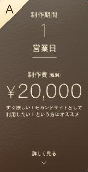 A.制作期間1営業日 制作費20,000円(税別)